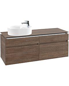Villeroy & Boch Legato Waschtischunterschrank B778L0E1 140x55x50cm, mit LED-Beleuchtung, Santana Oak