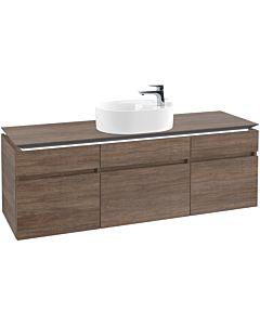 Villeroy & Boch Legato Waschtischunterschrank B784L0E1 160x55x50cm, mit LED-Beleuchtung, Santana Oak