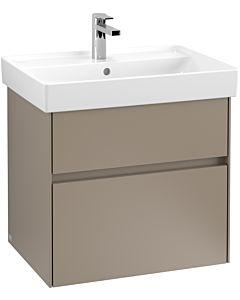 Villeroy & Boch Collaro Waschtischunterschrank C009L0VG 60,4x54,6x44,4cm, mit LED-Beleuchtung, Truffle Grey