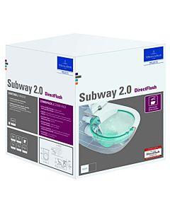 Villeroy & Boch Subway 2.0 & ViConnect Set WC spülrandlos, weiß Ceramicplus, mit WC-Sitz