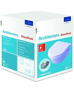 Villeroy & Boch Architectura Wand WC 5684HR01 weiss, spülrandlos, mit WC-Sitz