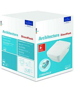 Villeroy & Boch Architectura Wand WC 5685HRR1 Combi Pack, weiß c-plus, spülrandlos, mit WC Sitz