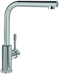 Villeroy & Boch robinet de cuisine 966801LC 14 l / min, tuyaux de raccordement flexibles, acier inoxydable massif
