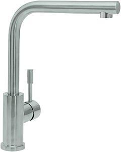 Villeroy & Boch mélangeur de cuisine 966811LE ND, 5 l / min, tuyaux de raccordement flexibles, acier inoxydable massif, poli