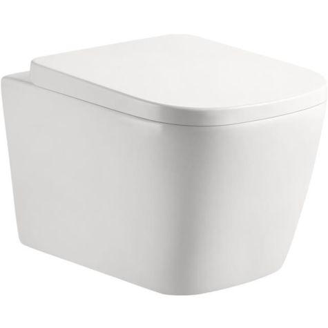 Fukana Premium WC Set softedge, weiß, spülrandlos, mit WC-Sitz