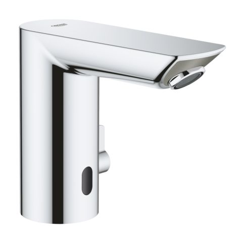 Grohe Bau Cosmopolitan E infrared basin mixer 36451000 chrome, with mixing, temperature limiter, 6 V lithium battery