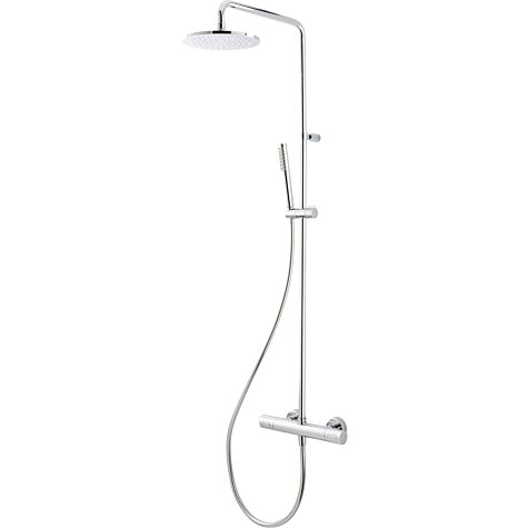 Herzbach Living Spa colonne de douche 11,988220. 2000 .01 chromé , avec douchette à main en plastique, Ø 200 mm