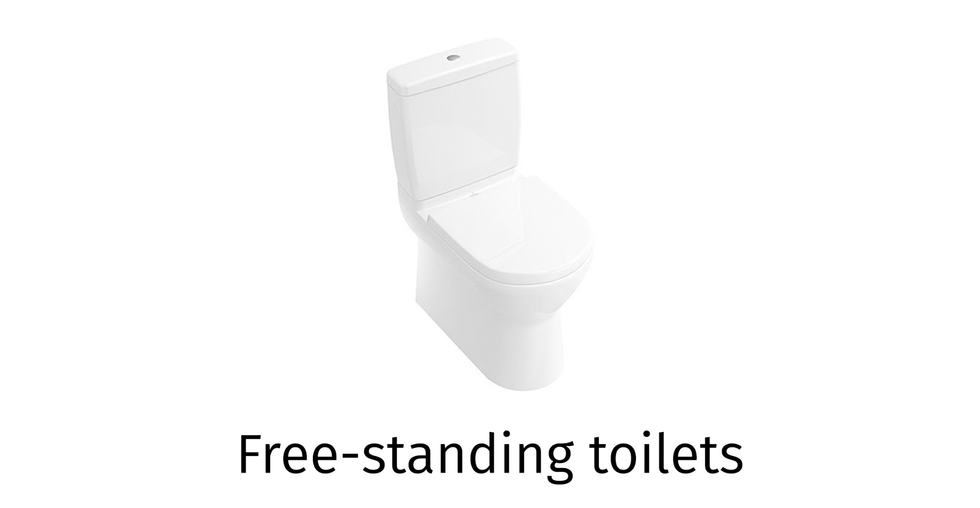 Free-standing toilet