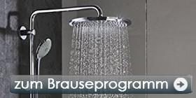 Zahlreiche Marken Brausen und Duschsysteme.