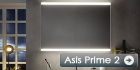 New: Illuminated Emco Asis Prime 2 mirror cabinets.