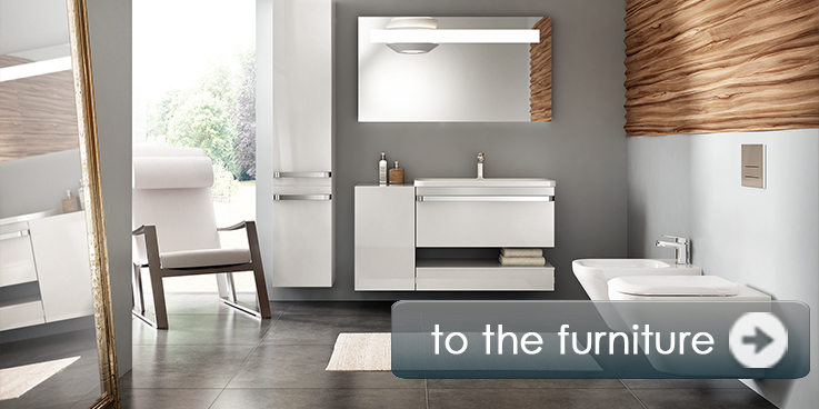 Bathroom furniture in many dimensions and colors.
